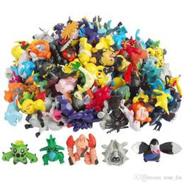 Wholesale 144 teile satz Figuren Spielzeug cm Multicolor Weihnachten Kinder cartoon Pikachu Charizard Eevee Bulbasaur PVC Mini Modell Spielzeug B