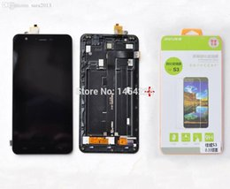 Wholesale post display - Wholesale-New original touch Screen Panel Digitizer+LCD display in Frame+Toughened Glass for Jiayu S3 cell phone Free shipping HK POST