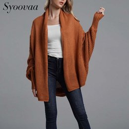 7445b1bed6 Syoovaa Women Sweater Cardigans Knitted Coat Loose Batwing Sleeve Cardigan  Womens Long Sleeve Ladies Winter Sweaters 10 Colors