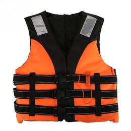 Wholesale life jacket orange - Outdoor Professional Orange Swimming Safety Life Jacket Vest Lifesaving Waistcoat Survival Jacket For Kids