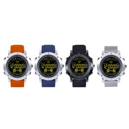 Wholesale camera sms - EX19 smart watch 5ATM swim waterproof Call SMS Alert Pedometer stopwatch fitness tracker Smartwatch Wristwatch for IOS Android iphone