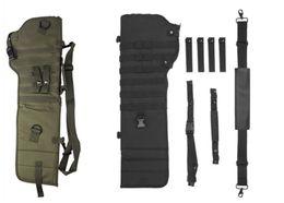 fusil de asalto Rebajas Rifle táctico Scabbard Al aire libre Caza Mochila Holster Bolsa de escopeta de asalto largo Gun Protection Carrier verde negro QT1-1