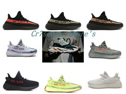 Wholesale Womens Athletic Shoes Cheap - With Box 2018 Cheap Wholesale Mens Womens Running Shoes Boost 350 V2 SPLY-350 STEGRY BELUGA 2.0 Primenkit wave runner 700 Athletic Sneakers