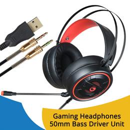 Casque de jeu Casque lumineux Casque Gamer pour casque PC avec microphone 3.5mm USB ? partir de fabricateur