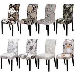 Sedie del ristorante online-Stampa di copertine Sedia sedile elastico copre per Hotel Ristorante Sala da banchetto regalo di decorazione della casa di Natale