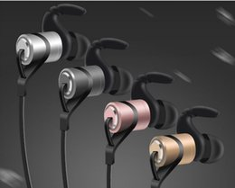 Wholesale iphone ear plugs - D9 new sport Bluetooth headset wireless version 4.1 In-Ear Stereo binaural plug mobile phone 4 aluminum magnesium metal bass
