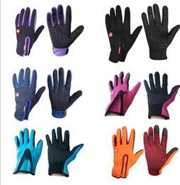 Wholesale Finger Wounds - Cycling Gloves Warm winds touch screen waterproof Bike Bicycle Gloves Riding Gym Finger Gloves Outdoor Sport Shockproof Mittens