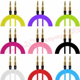 aux iphone männlich Rabatt Aux Auxiliary Kabel 3,5 mm Stecker auf Stecker Audio Kabel 1M Stereo Auto Verlängerungskabel für iPhone Samsung mp3 pc Lautsprecher Kopfhörer