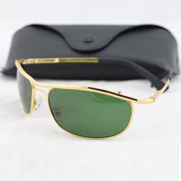 Wholesale Erkekler Için adet Yüksek Kalite YENI Vassl SunGlasses Yaz UV400 Koruma Altın Çerçeve Yeşil Spor Sunglass Erkekler Güneş gözlükleri Renkler Sıcak Satış