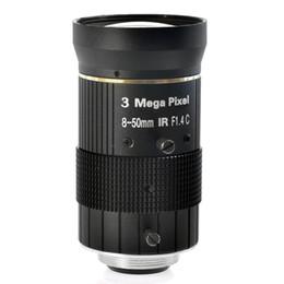 Octavia 3.0MP 8-50mm C Mount Lens F1.4 Manual IRIS zoom Focus lens for cctv camera industry Microscope Camera