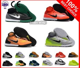 Wholesale Best Indoor Soccer Shoes - 2018 Original Best Cheap Mens Women Kids Football Boots MagistaX Proximo II TF IC Soccer Shoes Turf Magista Indoor Soccer Cleats Shoes