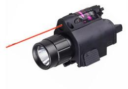 Torcia elettrica di caccia principale rossa online-NUOVA torcia tattica Insight laser rosso CREE LED 300LM luce della torcia lanterna per pistola pistola per la caccia pesca in campeggio