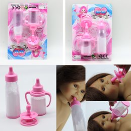 Wholesale Furniture Magic - 3pcs set Magic mike bottle for 18inch American 16inch BJD dolls DIY baby doll feeding bottle feeder nipple toy milk