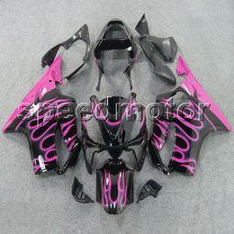2019 kit carenado yamaha r1 morado Colores + Regalos Injection mold pink flames CBR600 F4i 01-03 Carenado de motocicleta Carenado para HONDA CBR 600F4i 2001 2002 2003 Kit de plástico ABS