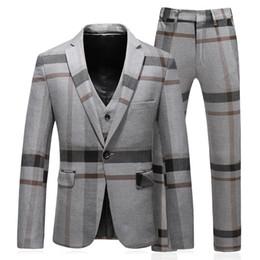 vino tuta uomo matrimoni montatore Sconti 3 pezzi terno MASCULINO slim fit moda di buona qualità mens righe tute designer 2018 plus size 5XL