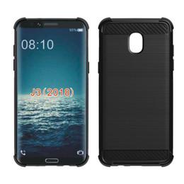 Canada 1.3mm Silicone Brosse En Fiber De Carbone Couverture Souple De Téléphone Pour Samsung Galaxy Sol 3 Amp Prime 3 Express Prime 3 J3 3ème Gen J3 Atteindre J3 Star J338 Offre
