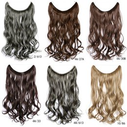 Wholesale New Europe - 2018 Wig factory wholesale new line hair extension hair piece long curly hair pieces Europe and the United States foreign explosion