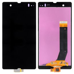 Wholesale Xperia Z Lcd - 1pcs HH For so ny Xperia Z L36h LT36I LT36H C6606 C6603 C6602 C660x C6601 LCD Display Touch Screen Panel Digitizer Free Shipping
