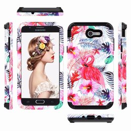 Wholesale Plastic Paint Green - IPHONE 8 PLUS Full Protection 3 in1 Hybrid Phone Case New Flower Painted PC Silicon Cover for Samsung S9 PLUS J3 J7 2017 OPPBAG Aicoo