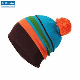 2018 Новые дети Двусторонняя кепка Зимняя шапочка Лыжная шляпа Вязаная зимняя полоса Hat Для мальчиков и девочек Warm Bonnet Hats Kids от