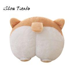 Wholesale Novelty Hand Warmers - 2018 Hot Sale Cute Body Pillow Novelty Corgi Bottom Warm Pillow Dog Buttocks Hand Cushion Plush Lovely Cushion Best Gift