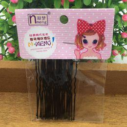 Wholesale Korean Hair Pins Accessories - 40pcs 2bags lot New Korean Kids Adult Fashion Cute U Style Super Quality Barrette Hairclip Hair Pins Hair Accessories Girl Women
