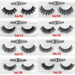 Wholesale Individual Mink Lash Extensions - 12 styles Selling 1pair lot 100% Real Siberian 3D Mink Full Strip False Eyelash Long Individual Eyelashes Mink Lashes Extension
