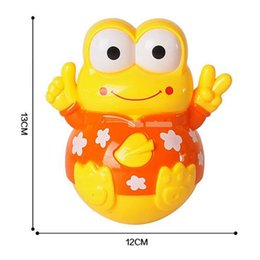 Wholesale Puzzle Pc Game - Hot 1 Pc Lovely Electric Music Light Plastic Cartoon Animal Tumbler Early Educational Baby Infant Puzzle Toys Funny Games