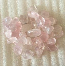 Wholesale Pink Gravel - Beautiful Natural pink QUARTZ Crystal Gravel Polised healing Provide Good rose crystal energy as gift 100g