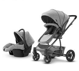 2019 assentos de tecido de bebê Leve carrinho de bebê dobrável 3C de linho de algodão de alumínio cesta de tecido de segurança do carro + carrinhos todos em um 2018 novo assentos de tecido de bebê barato