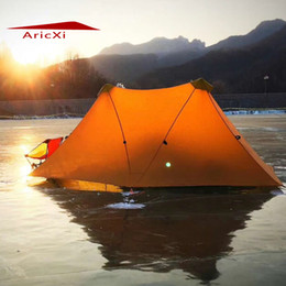 Wholesale Outdoor Large Camping Tent - Aricxi Camping Tent Ultralight 2Person Outdoor 20D Nylon Both Sides Silicon Coating Rodless A tower Large Tent