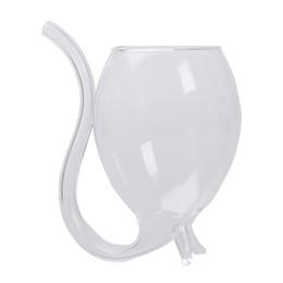 Vampire Wine / Water Glass Tazza Mug con Drinking Tube Straw Novità Regalo in stile per la tua festa del vino da bicchieri di cristallo di cognac fornitori