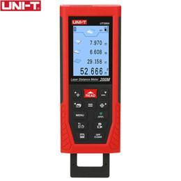 UNI T UT398A Lazer Mesafe Ölçer 200 M Uzaklık Ölçer Lazer Bant Mesafe Bulucu Kamera Lofting Testi Tesviye Enstrüman Veri Depolama nereden yeraltı metal dedektörleri tedarikçiler