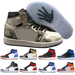 Wholesale men blue leather shoes - 1s Mid OG 1 top 3 mens basketball shoes Homage To Home Banned Bred Chicago Royal Blue Shattered Backboard Pass The Torch men sports sneakers