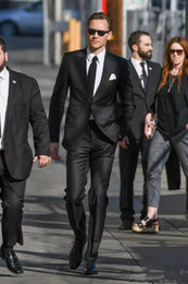 Wholesale Classy Winter Jackets - Classy Black Mens Suit Custom Made Groom Suit Wedding Suits For Best Men Jacket Pants Slim Fit Chic Groom Tuxedos For Man