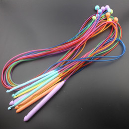 7Pcs 2Sets ABS Knit Cable Stitch Knitting Needles Smooth Crochet Hook Craft BB