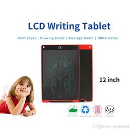 sottile compressa bianca Sconti Scritte da 12 pollici LCD Scrittura di pastiglie elettroniche da disegno Tavolo da disegno per bambini Scuola lavagna per ufficio