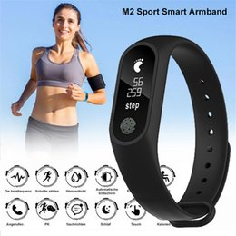 Wholesale Home Intelligence - M2 Smart Bracelet smart watch Heart Rate Monitor bluetooth Smartband Health Fitness Smart Intelligence Band for Android iOS activity tracker