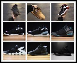 Wholesale Gentleman Man - Genuine leather Y3 Running Shoes for men Sneakers women QASA girls Sport shoes gentlemen sneakerhead boost choice fast arrival DHL 36-44