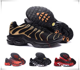 Wholesale cushion flooring - 2017 New Arrive TN Running Shoes For Men ,Good Quality Tn Trainers Lace Up Breathable Mesh Cushion Sport Sneakers Size 40-46