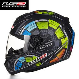 Wholesale Ece Motorcycle Full Face Helmet - New Authentic LS2 FF352-2 High Quality Full Face Motorcycle Helmet Men Racing Moto Helmets ECE Capacete Casqueiro Casque No Pump