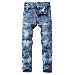 Canada Jeans Hole Slim Stretch Denim Taille Plus Pantalon Hip Hop Snow Wash Jeans Droite Pantalon Taille Plus Ripped pour les hommes cheap snow pants Offre