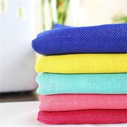 toalha de crochet quadrada Desconto Travesseiro de Impressão Pano Imitado de Linho Chinelos de Linho Têxtil Multi Função Toalha De Mesa Juta Runner Serapilheira Tecido Hessian 4 4 m ff