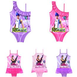 un jeu d'anime Promotion Jeu Fortnite impression enfants Maillots de bain 2018 été One-Pieces bébé filles Cosplay Maillot de bain dessin animé Bikinis One Piece Maillots de bain TC180815-WL