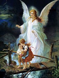 Wholesale oil painting goddess - Goddess Caring Angel Character Role Poster Oil Painting Art Giclee Canvas Poster HD Print Poster Oil Painting Art Wall For Home Decor