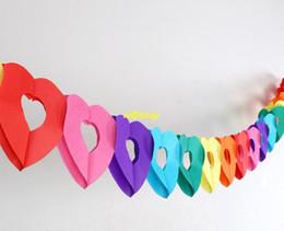 Papier wimpel banner online-100 teile / los schnelles verschiffen Bunte Papier Girlande Kinder Geburtstagsparty Banner Hochzeit Hängen Wimpel Festival Banner Fahnen