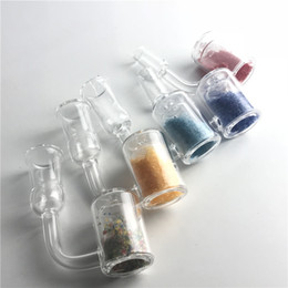 Wholesale changing color nail - Colorful Quartz Thermochromic Banger Thermal Bucket Nail with Color Changing Quartz Sand Banger Nails for Glass Bong Water Pipes