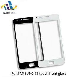 2019 s2 partes Para Samsung Galaxy S2 I9100 i8730 Pantalla táctil frontal de cristal exterior Panel de vidrio frontal Sensor digitalizador Piezas de teléfono s2 partes baratos