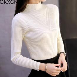 koreanischer dicker pullover Rabatt Herbst-Frauen-Rollkragen-Strickjacke- Winter-Kurzschluss- 75272a47fd
