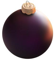 2019 palla di natale ornamento viola Spedizione gratuita Evento Party Wedding Festival fornitore Natale Xmas Tree Ball Decorazione 80mm Purple Ball Ornament - Matte palla di natale ornamento viola economici